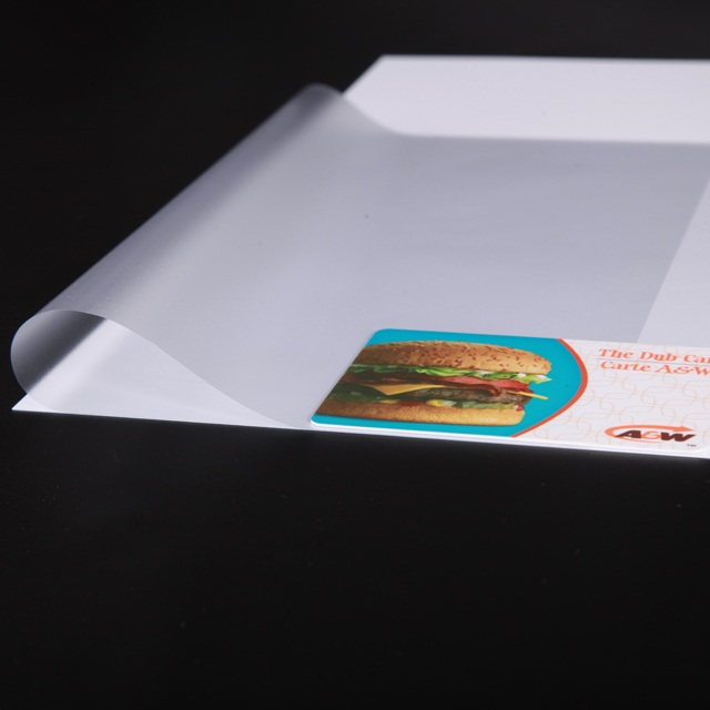 PVC Coated Overlay for Digital Printing Cards